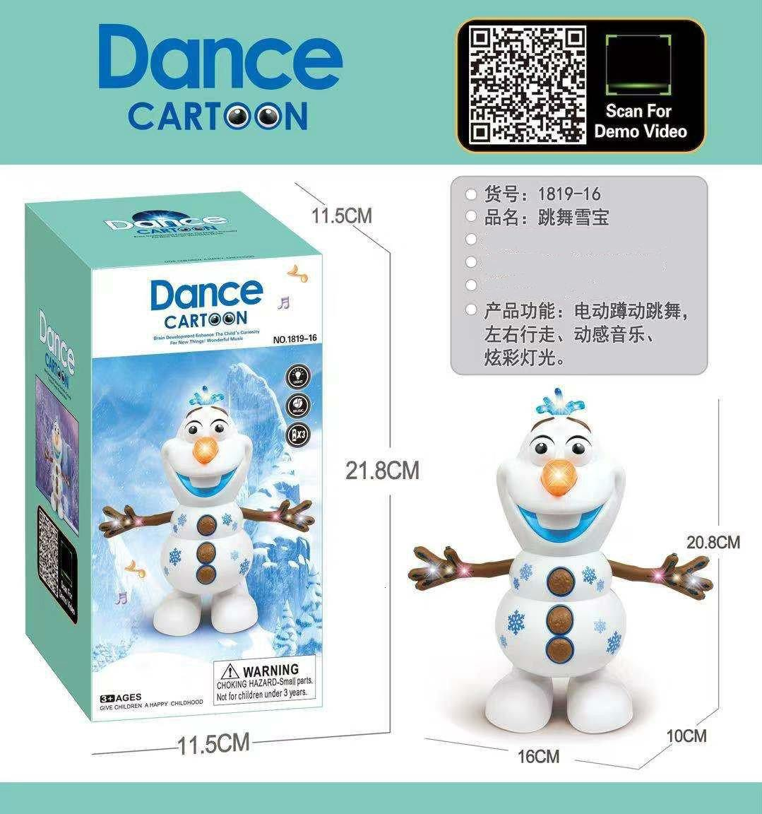 Frozen Dancing Snowman Olaf Robot With LED Music Flashlight - iDigiBay