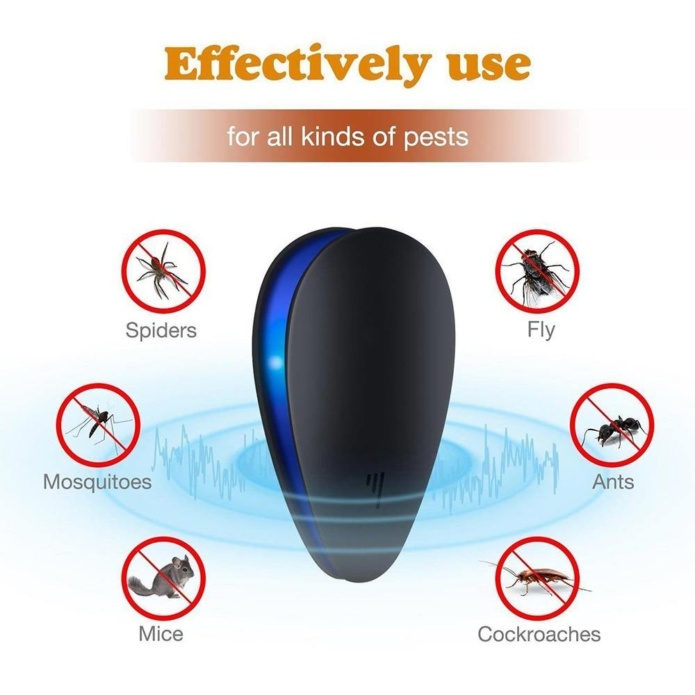 Ultrasonic Pest Repellent Mosquito Killer Anti Rodent Mice Cockroach Rat Spider Insect - iDigiBay