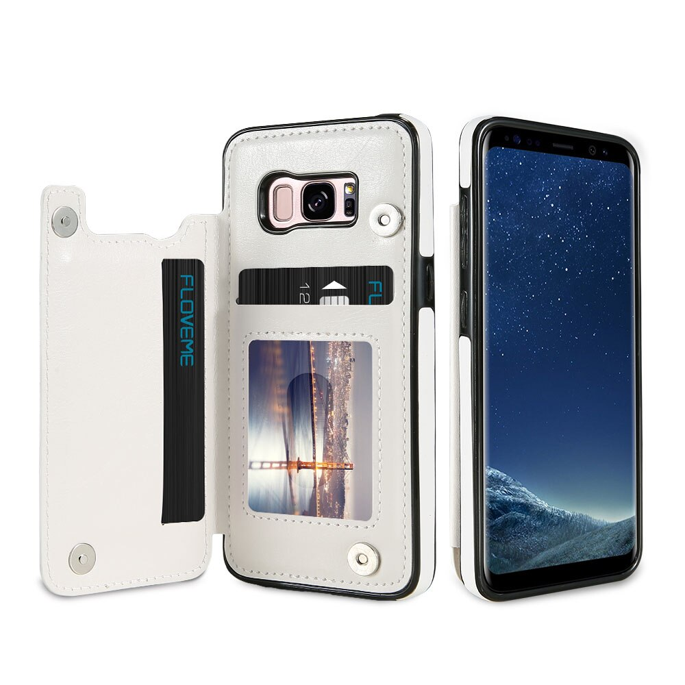 PU Leather Wallet Card Solt Case For Samsung S10 Plus S10E S9 S8 S7 Edge - iDigiBay