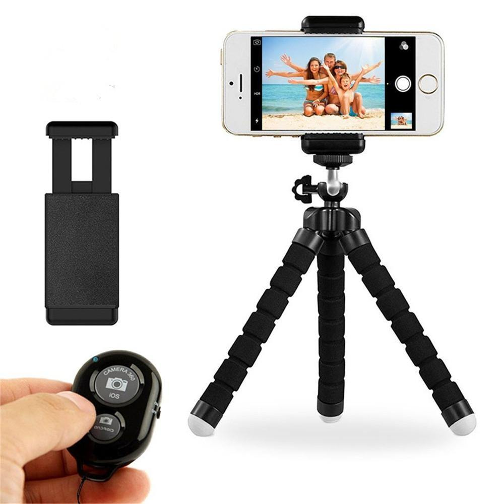 General Sponge Octopus Tripod with Bluetooth Remote Control - iDigiBay