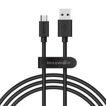 BlitzWolf® BW-CB7 2.4A 3ft/0.9m Micro USB Charging Data Cable - iDigiBay