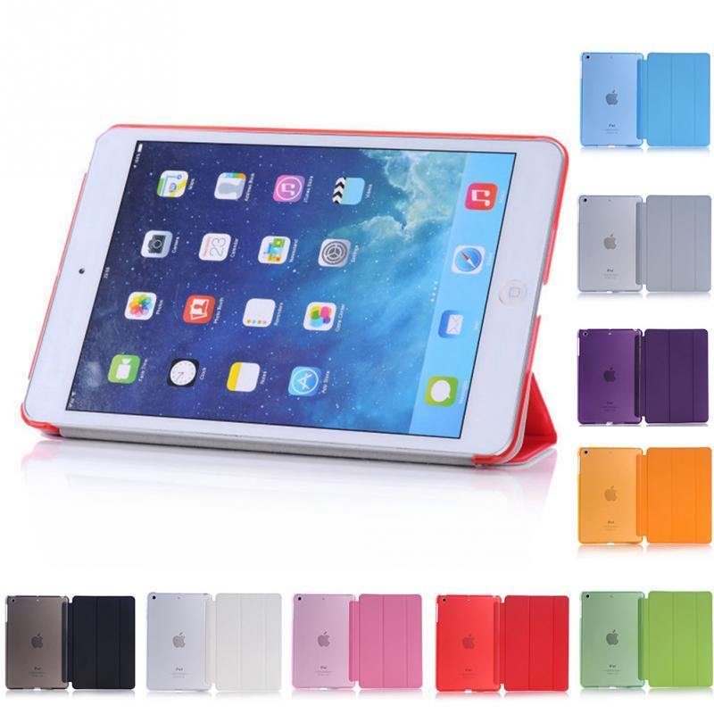 Ultra Slim Magnetic Smart Flip Stand PU Leather Cover for iPad - iDigiBay