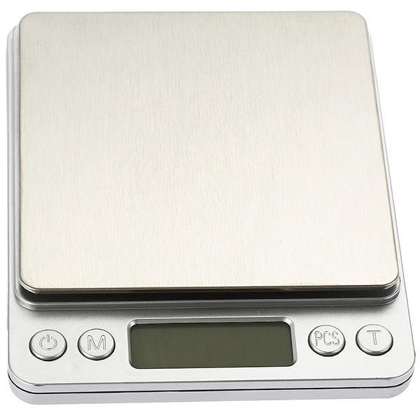 i2000 3kg 0.1g Mini Digital Stainless Steel Scale Platform Weighing Tool with Tray - iDigiBay