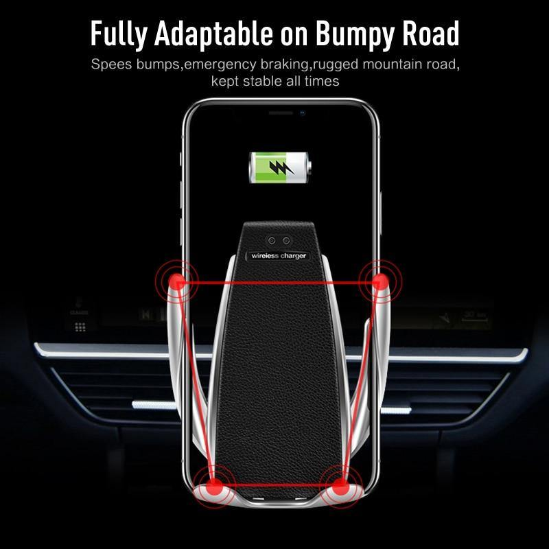 Automatic Clamping Wireless Car Charger Air Vent Phone Holder 360 Degree Rotation USB Charging - iDigiBay