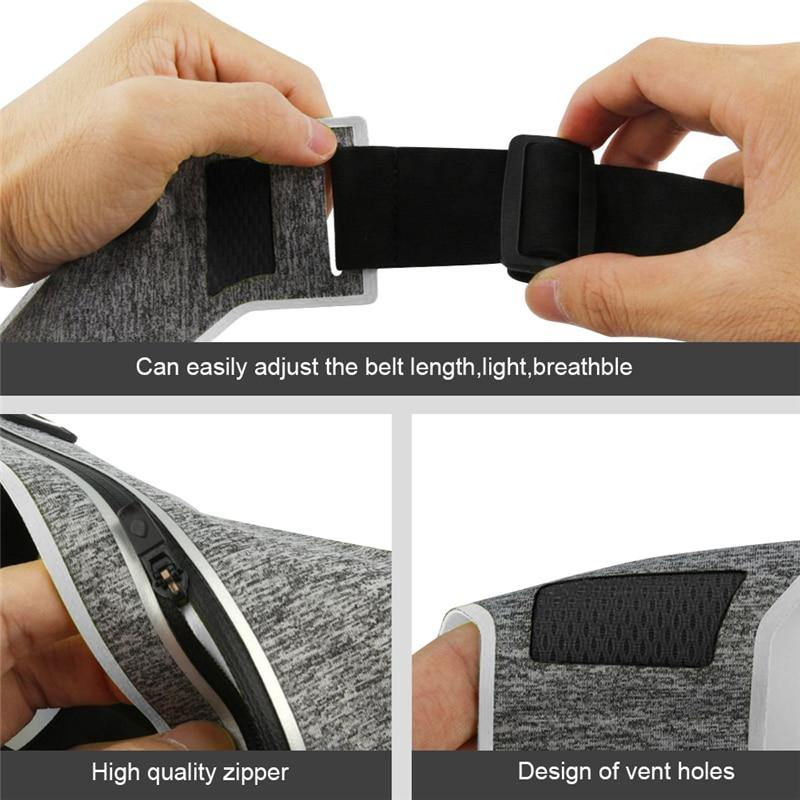 Ultra-thin Multi-pocket Sweatproof Sports Running Waist Pouch Belt - iDigiBay