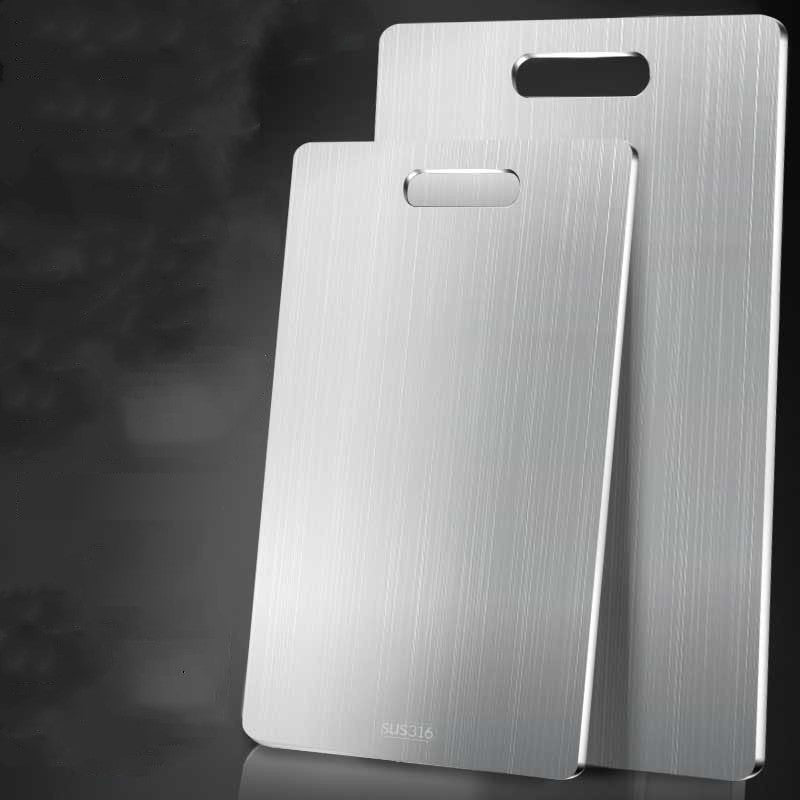 316 Stainless Steel Thin Sturdy Cutting Chopping Board Kitchen Tool