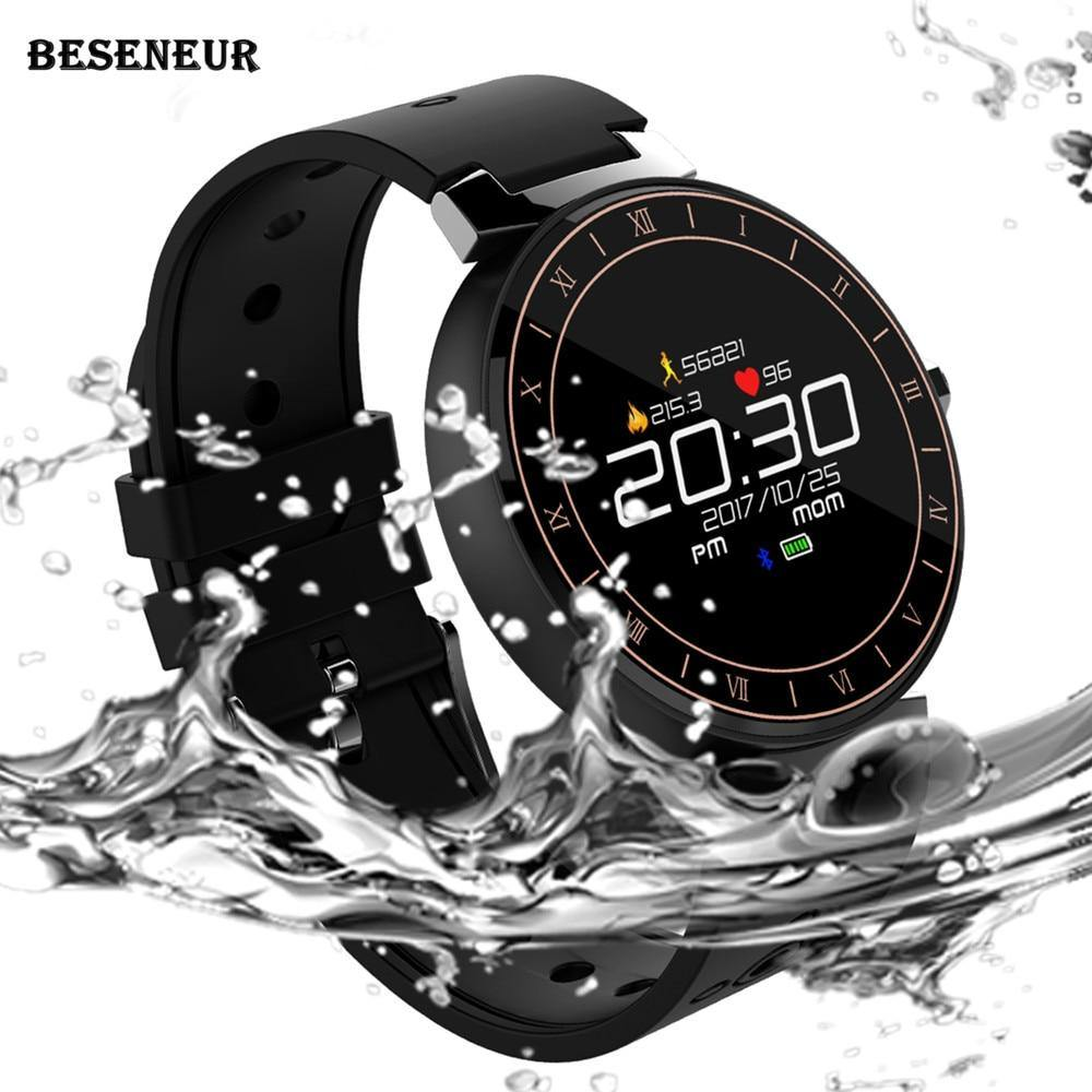 Beseneur L8 Smart Bracelet Heart Rate Monitor Blood Pressure IP68 Waterproof - iDigiBay