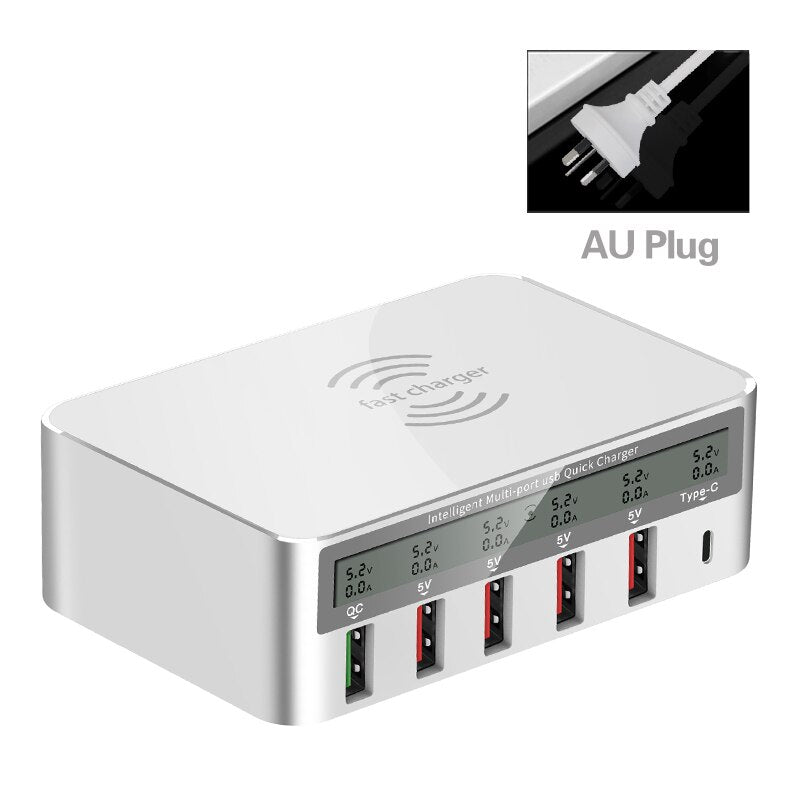 QI Wireless Quick Charge 3.0 USB Charger and Fast Charging HUB