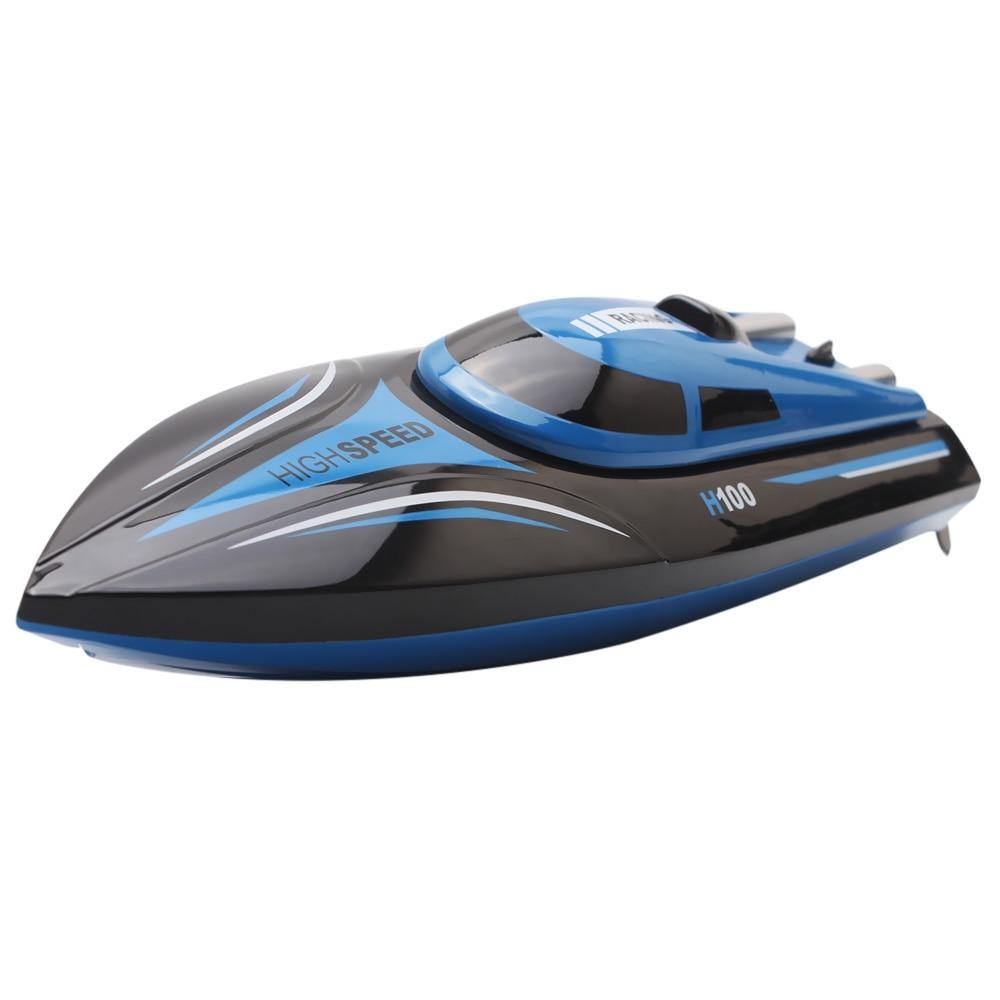RC Boat 2.4Ghz 30KM/H High Speed 4 Channels Remote Control Electric Racing Boat for Pools & Lakes Automatically 180° Flipping Transmitter with LCD Screen - iDigiBay