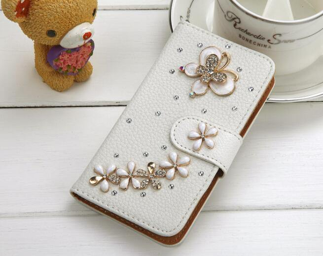 Luxury Crystal Rhinestone Wallet Style Bling Butterfly Diamond Phone Case for Samsung - iDigiBay