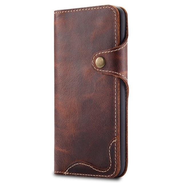 Luxury Business Style Genuine Real Leather Case for Samsung Galaxy - iDigiBay