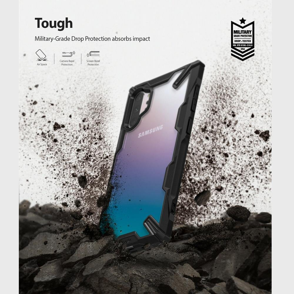 Shock Absorption Transparent Hard PC Back Soft TPU for Galaxy Note 10+ 5G Cover - iDigiBay