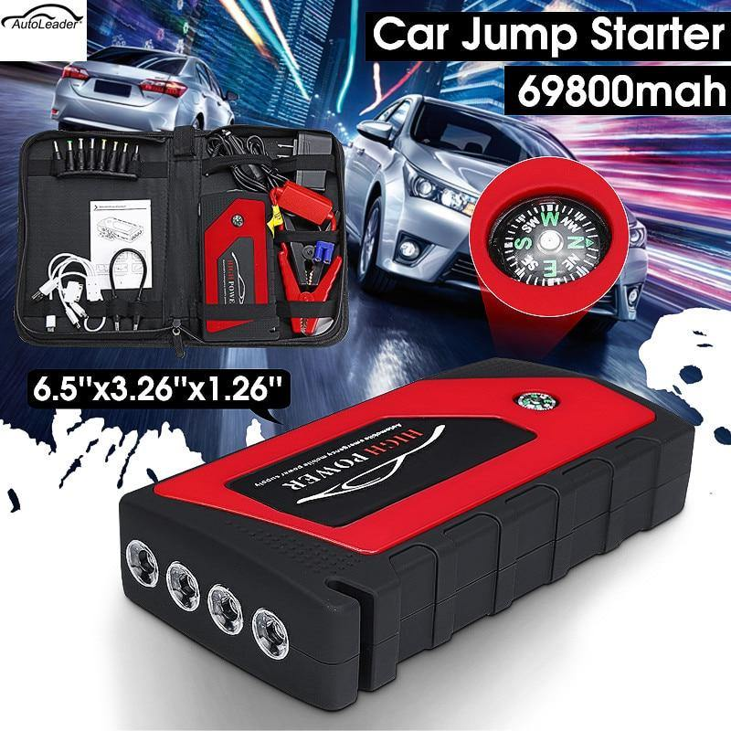 Car Jump Start Emergency Starting Device with 4USB/LED Light - iDigiBay