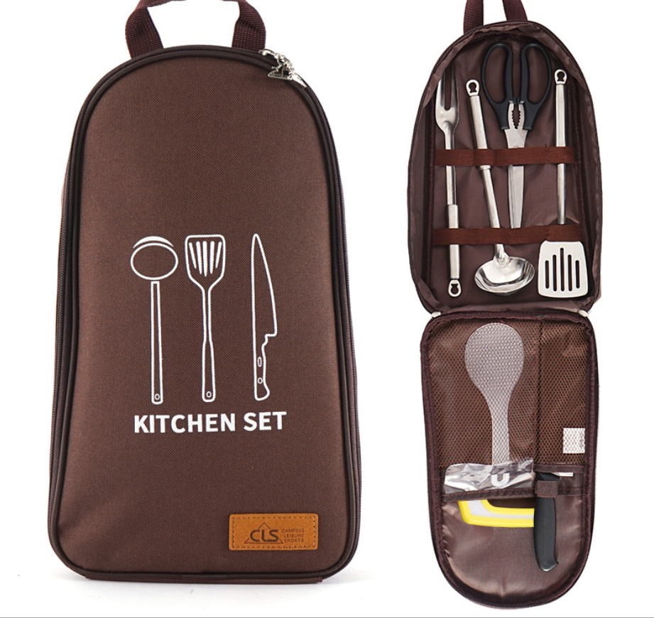 Outdoor Cookware Set Wild Kitchenware Portable Tote Picnic Bag