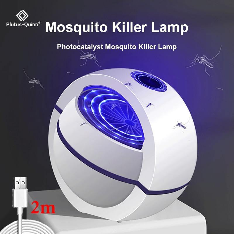 USB Powered Mosquito Killer Lamp No Noise 360° Insect Killer Bug Zapper Mosquito Trap - iDigiBay