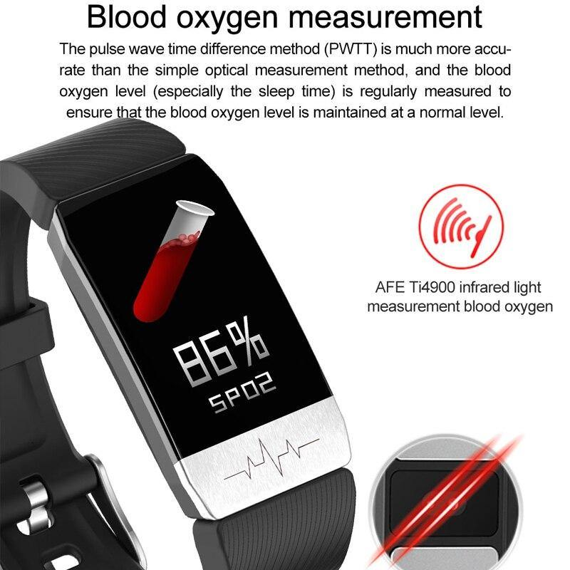 T1 Smart Watch Band With Temperature Immune Measure ECG Heart Rate Blood Pressure Monitor Weather Forecast Drinking Remind - iDigiBay