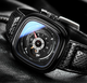 Automatic Skeleton Watch for men - Waterproof leather strap Sport Watches men