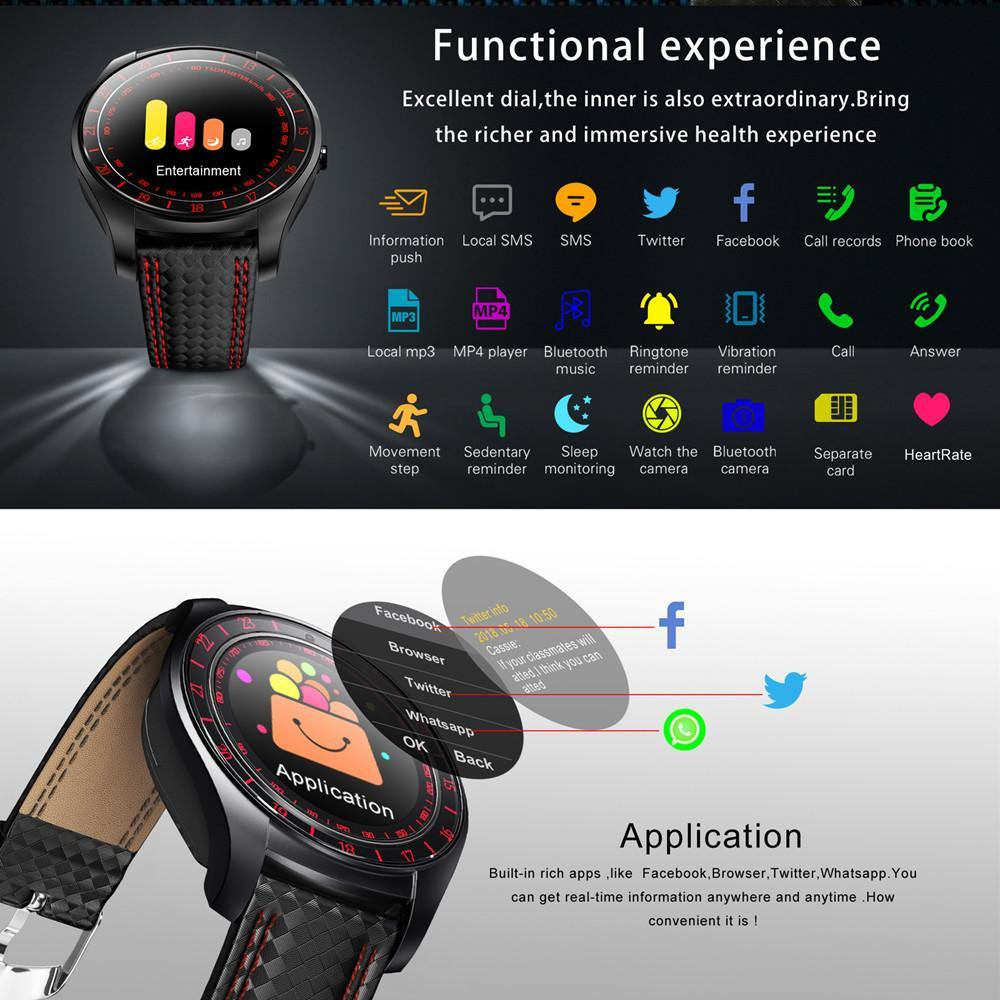 V10 Heart Rate Monitor Sim Card Bluetooth Pedometer Smart Watch with Camera for Android Phone - iDigiBay
