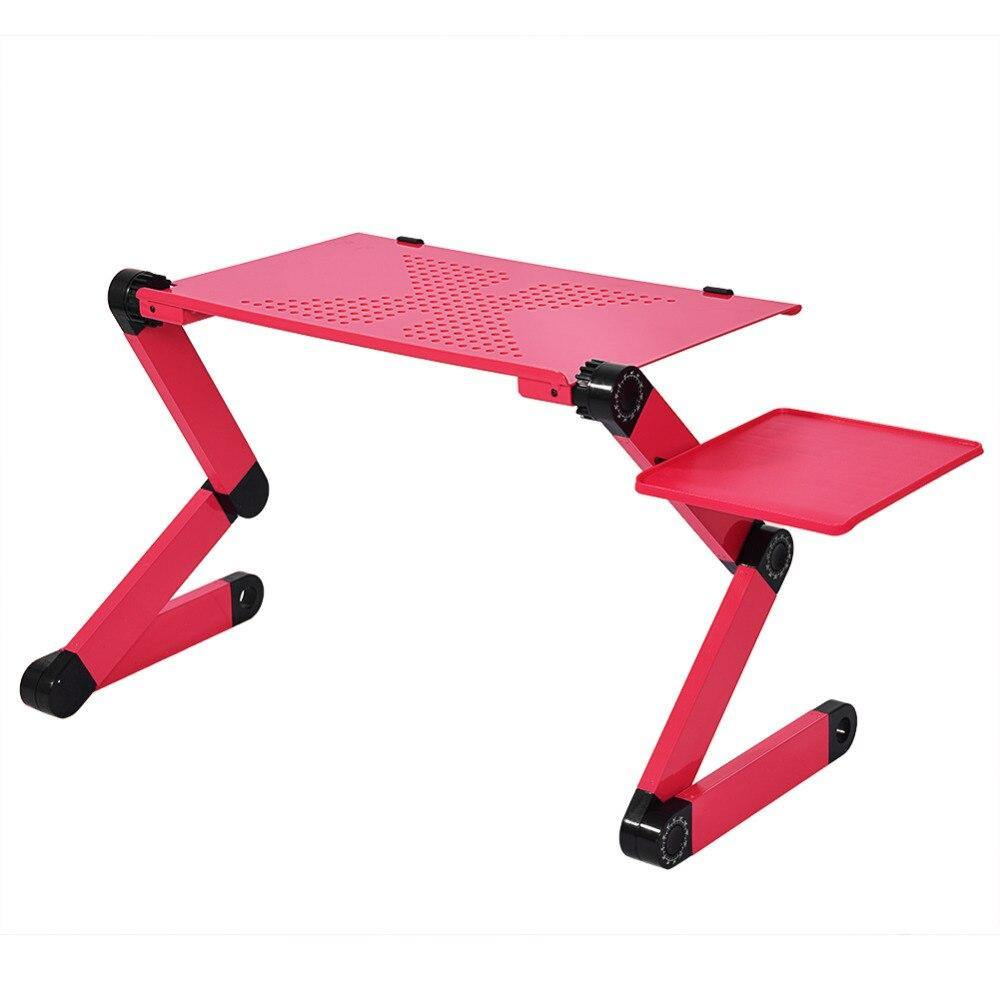 360 Degree Adjustable Laptop Desk Computer Foldable Bed Stand with Mouse Holder - iDigiBay