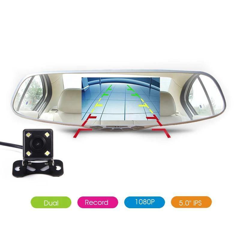 3 in 1 Dual Lens GPS 1080P Car DVR Rear View Mirror Monitor Video Recorder - iDigiBay