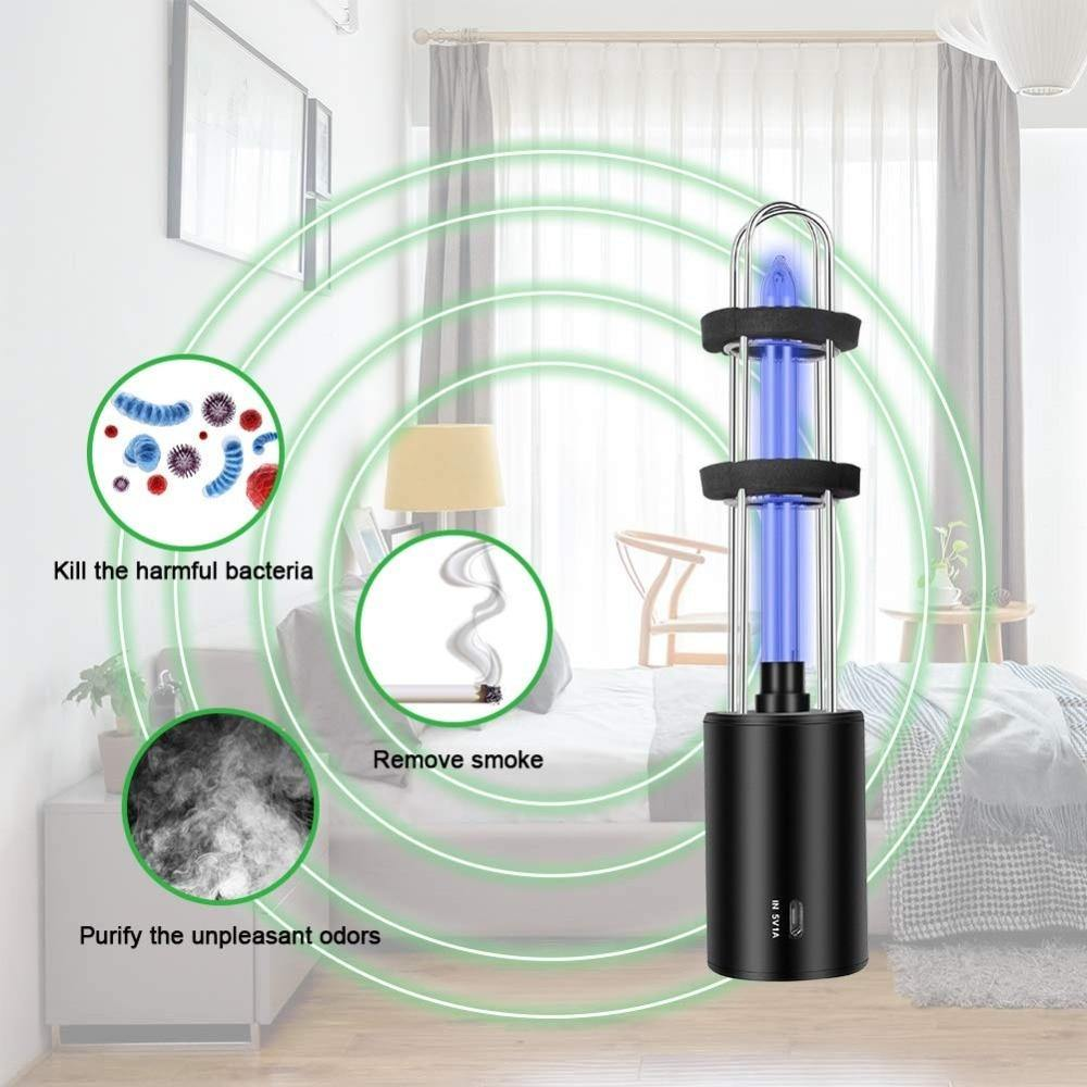 Rechargeable Ultraviolet UV Sterilizer Light Tube Bulb Disinfection Bactericidal Lamp - iDigiBay