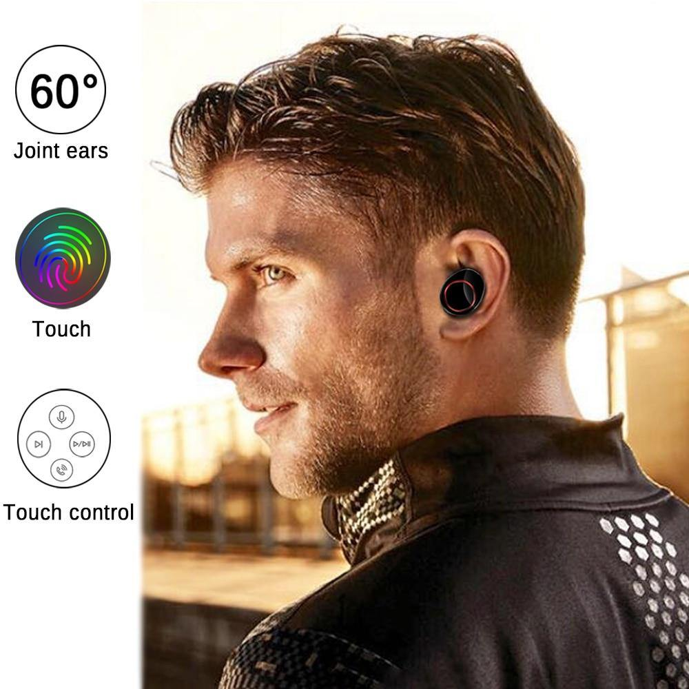 TWS Wireless Earphone Bluetooth 5.0 Power Display Touch Control Sport Stereo Cordless Earbuds - iDigiBay