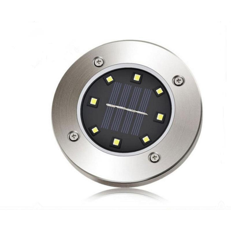 8 LED Solar Power Buried Light Under Ground Lamp Outdoor Path Way - iDigiBay