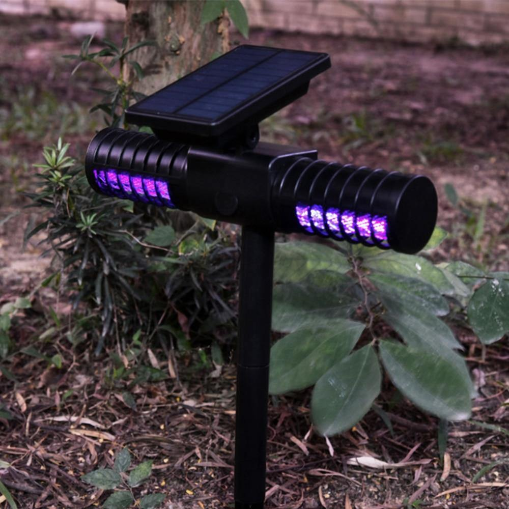 Outdoor Solar Powered Waterproof Mosquito Killer Lamp LED Light Lawn Camping Lamp - iDigiBay