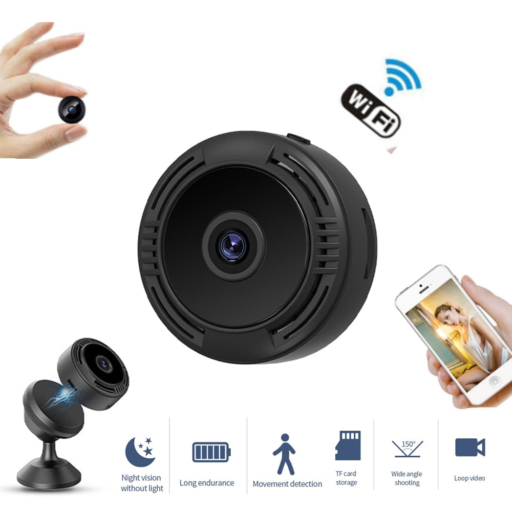 A9S Night Vision 1080P Motion Detection Wireless IP Camera With Remote