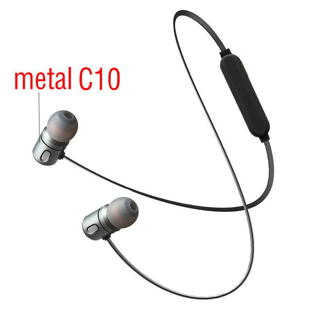 C10 Bluetooth Earphone Wireless Headphones Bluetooth Magnet Headsets - iDigiBay