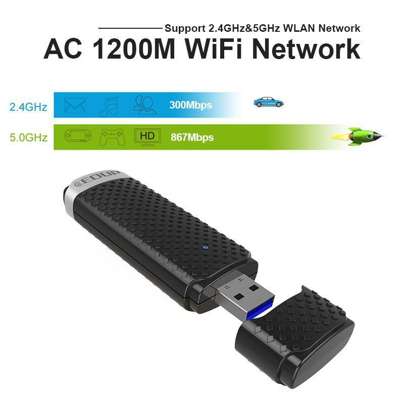 EDUP 5ghz USB 3.0 Wireless WIFI High Speed Adapter - iDigiBay