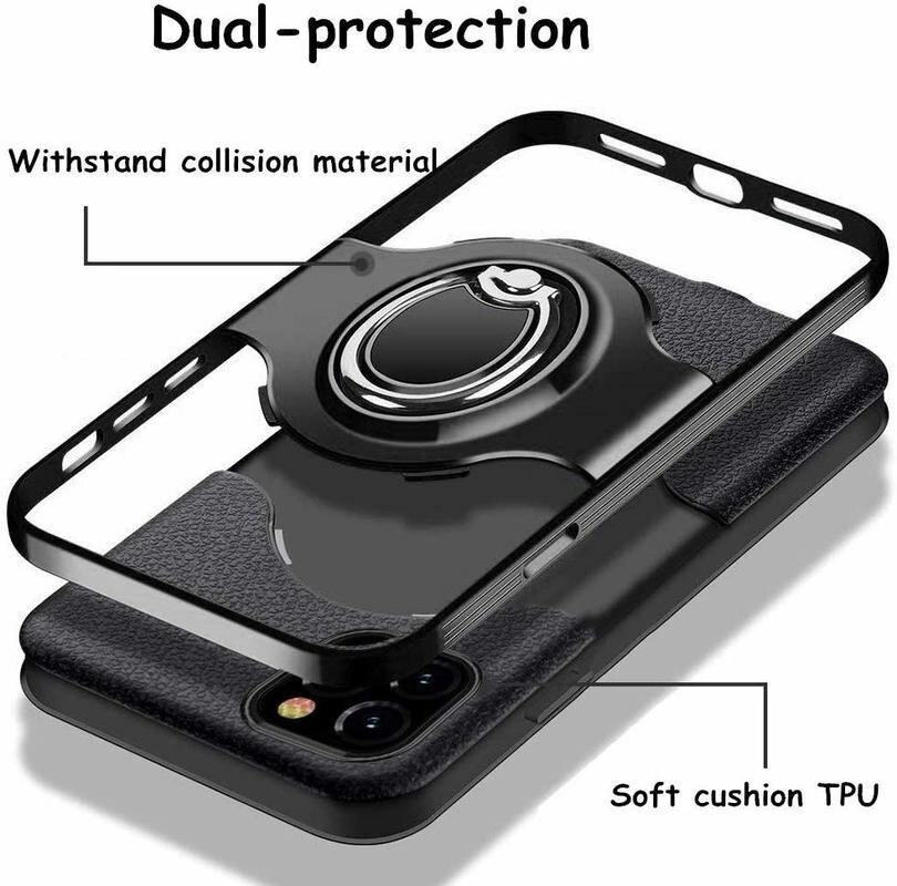 Soft Silicone Slim Case with Drop Protection 360 Rotating Finger Ring For iPhone - iDigiBay