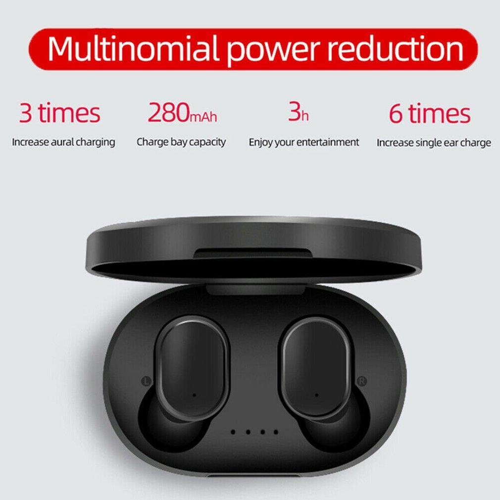 A6S Bluetooth Headsets For Redmi Airdots Wireless Earbuds 5.0 TWS Earphone Noise Cancelling Mic for Xiaomi iPhone Huawei Samsung - iDigiBay