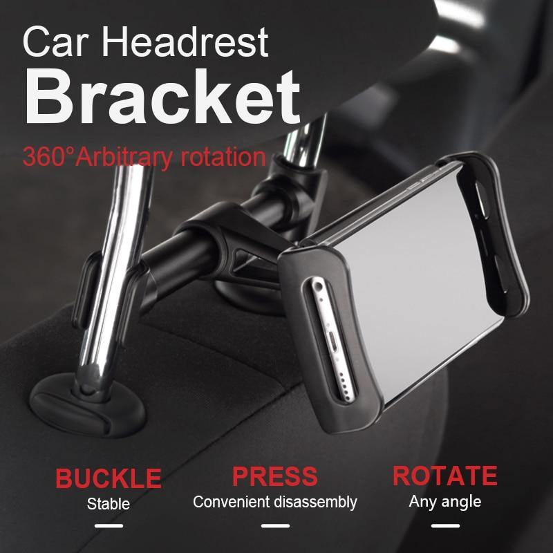 "4""-11.5"" Car Back Seat Phone Tablet Holder Universal Car Headrest 360 Rotatable Phone Tablet Holder - iDigiBay"