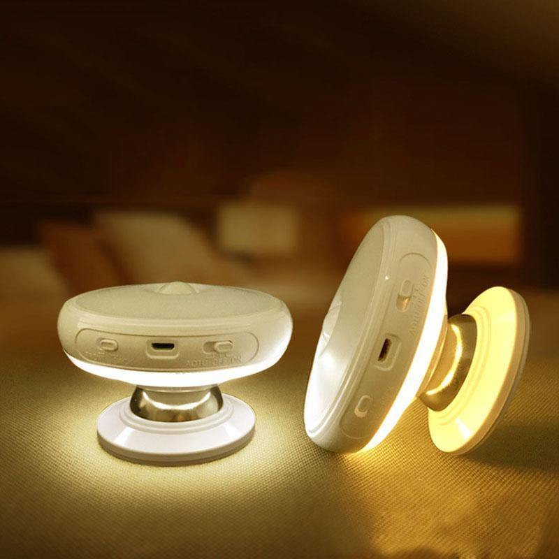 Motion Sensor 360 Degree Rotating Rechargeable LED Night Light - iDigiBay