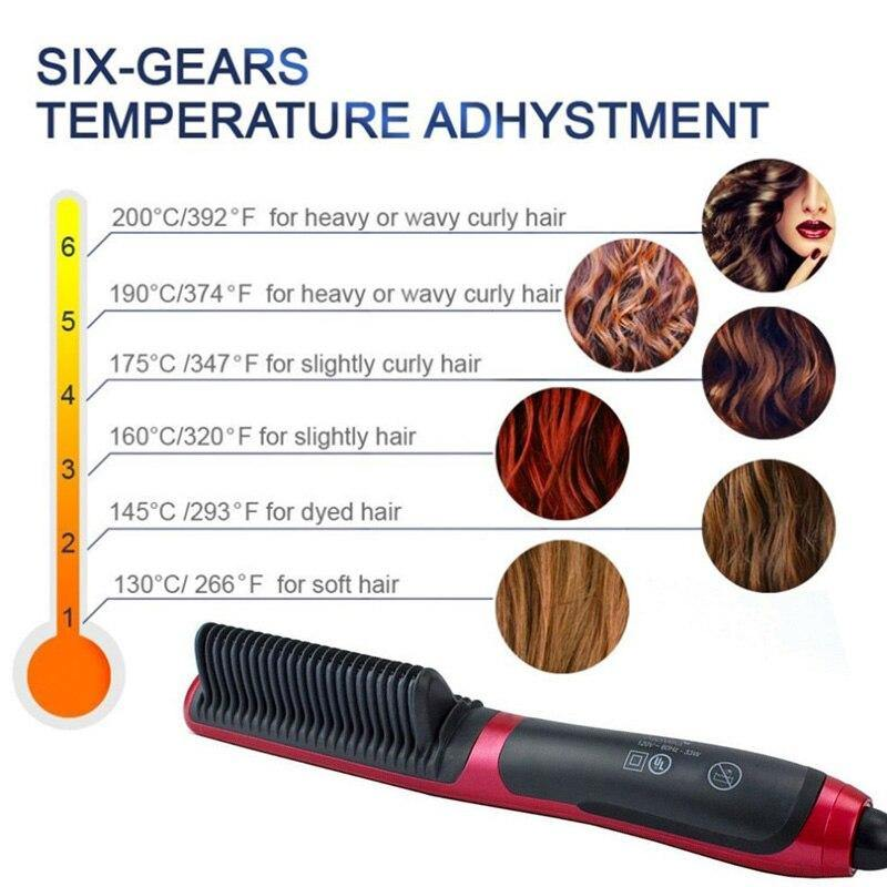 Dual-Purpose Hair Straightener Hair Curler Comb for Women Men - iDigiBay