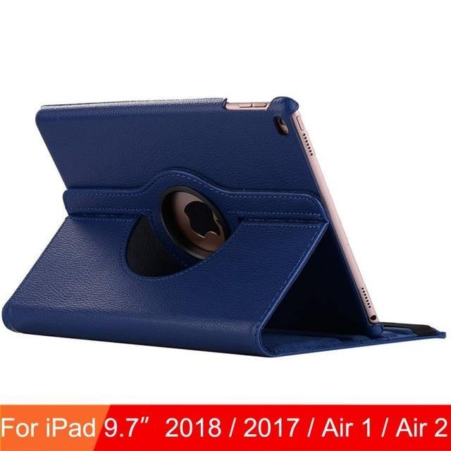 360 Degree Rotating Leather Smart Cover Case for Apple iPads - iDigiBay
