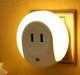 Smart Design LED NightLight with Light Sensor and Dual USB Wall Plate Charger