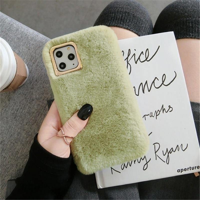 Lovebay Plush Furry Fluffy Fur Phone Case For iPhone - iDigiBay