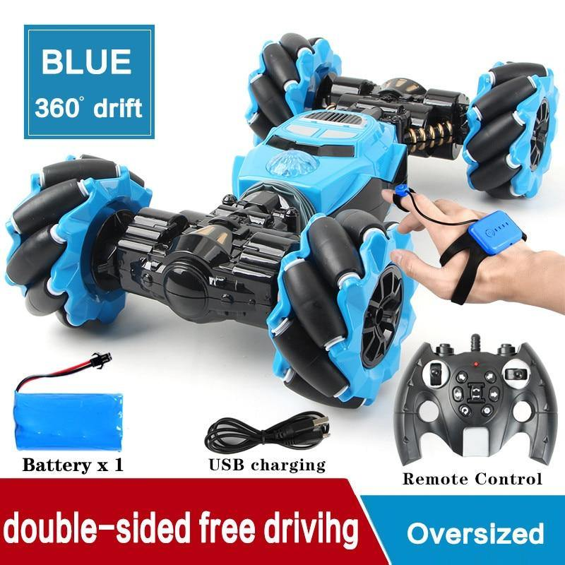 RC Car 4WD Radio Control Stunt Car Gesture Induction Twisting Off-Road Vehicle Light Music Drift Toy High Speed Climbing RC Car - iDigiBay