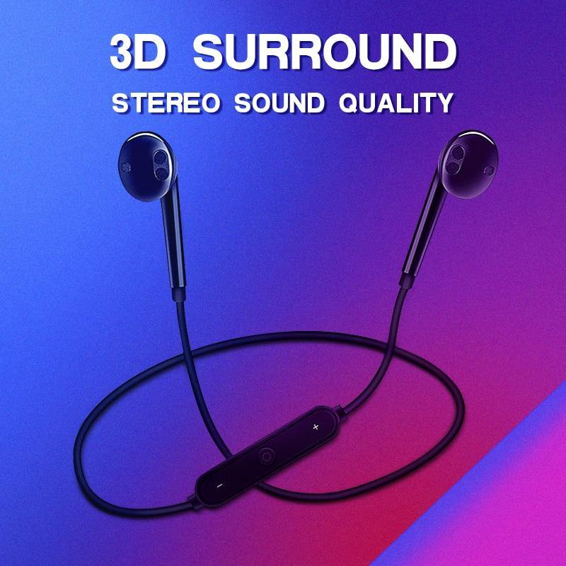 S6 Wireless Bluetooth Sports Headphones 3D Stereo Built-In Microphone Stylish Headset - iDigiBay