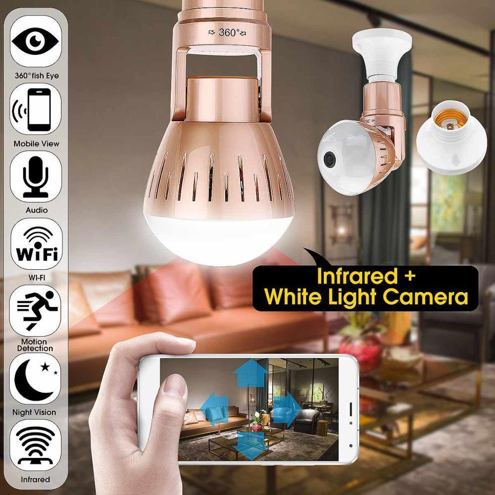 200W Wireless 2MP HD 360 Degrees Panoramic Light Home Cctv Security Video Surveillance Wifi  Camera - iDigiBay