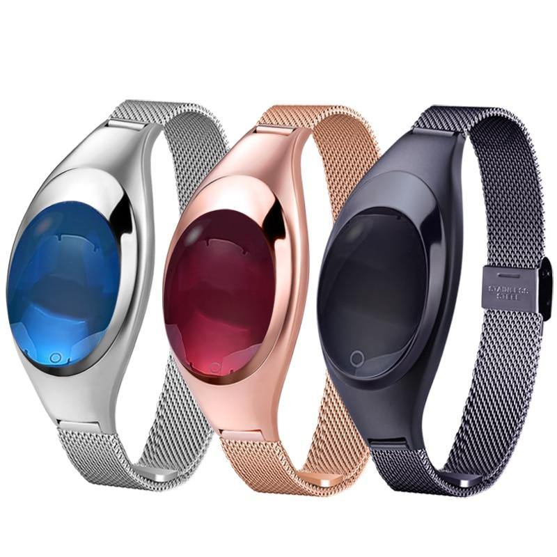 Women Fashion Z18 Smart Watch Band Bracelet Heart Rate Monitor Pedometer Fitness Tracker Watch for Android IOS - iDigiBay