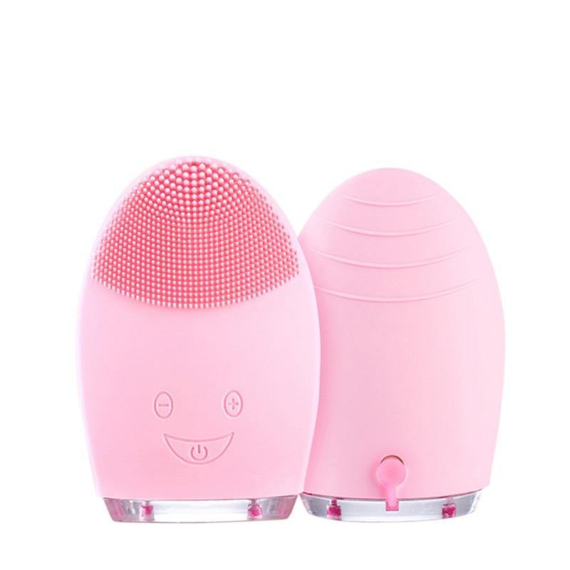 Facial Cleansing Brush Silicone Shrinking Pores Oil-control Electric Cleansing Instrument Electric Face Cleansing Brush - iDigiBay