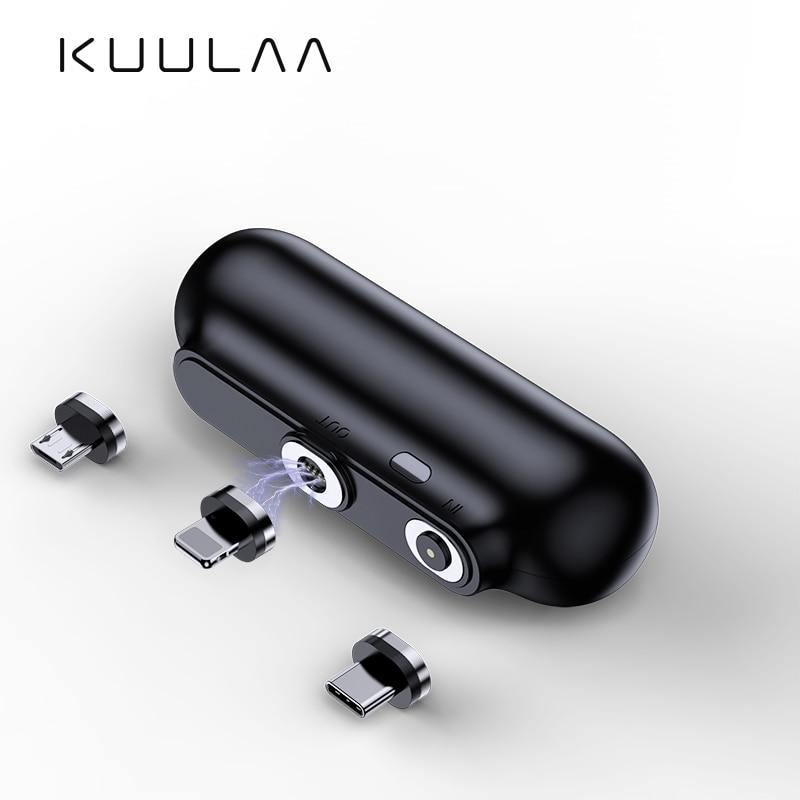 KUULAA Magnetic Power Bank 2600mAh Mini Magnet Charger PowerBank - iDigiBay
