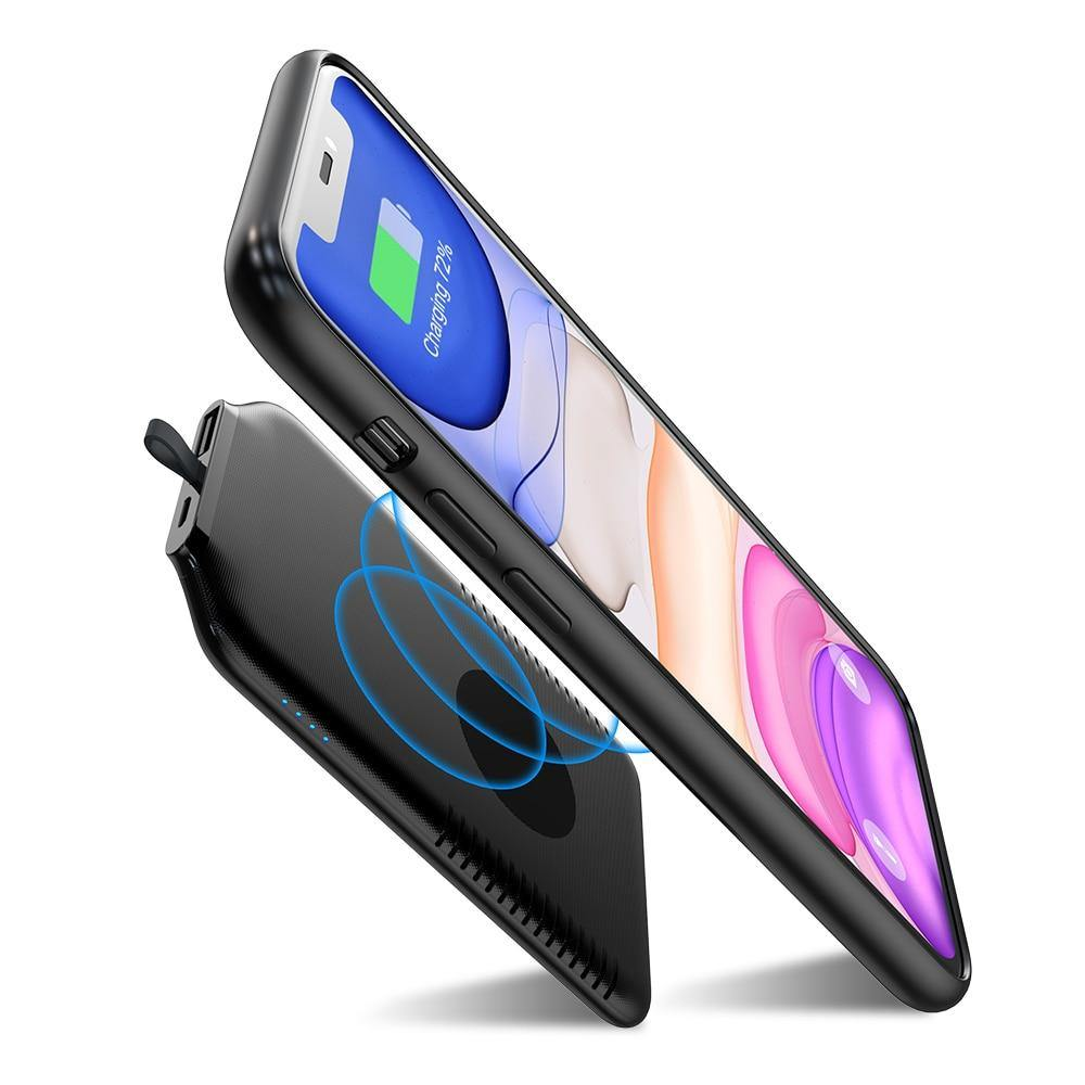 Mini Ultra Slim Magnetic Wireless Charging Power Bank - iDigiBay