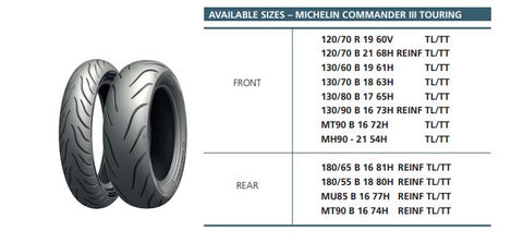Michelin Commander 3 touring tyres