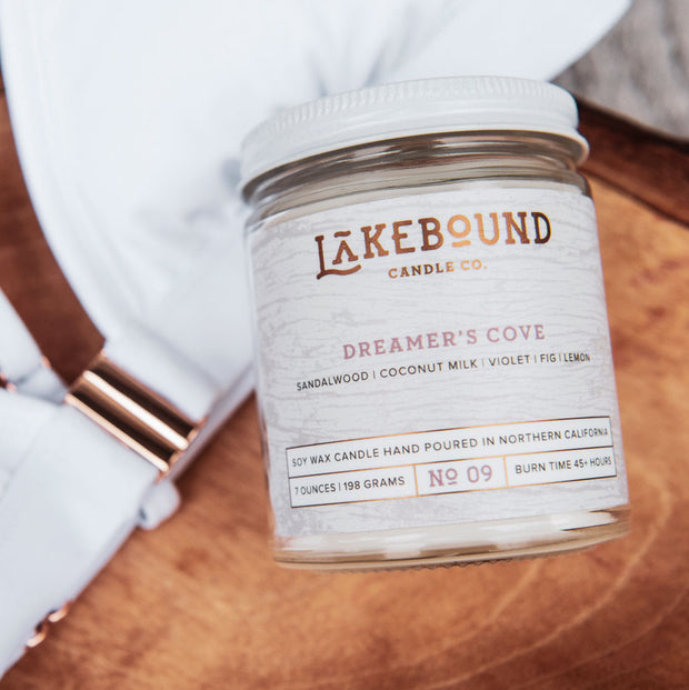 Fig Brown Sugar Dreamer's Cove Soy Candle
