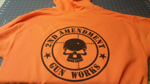 Safety Orange Hi Viz Safety Work Gear 2AGW Crew Sweatshirt - 2nd Amendment Gun Works