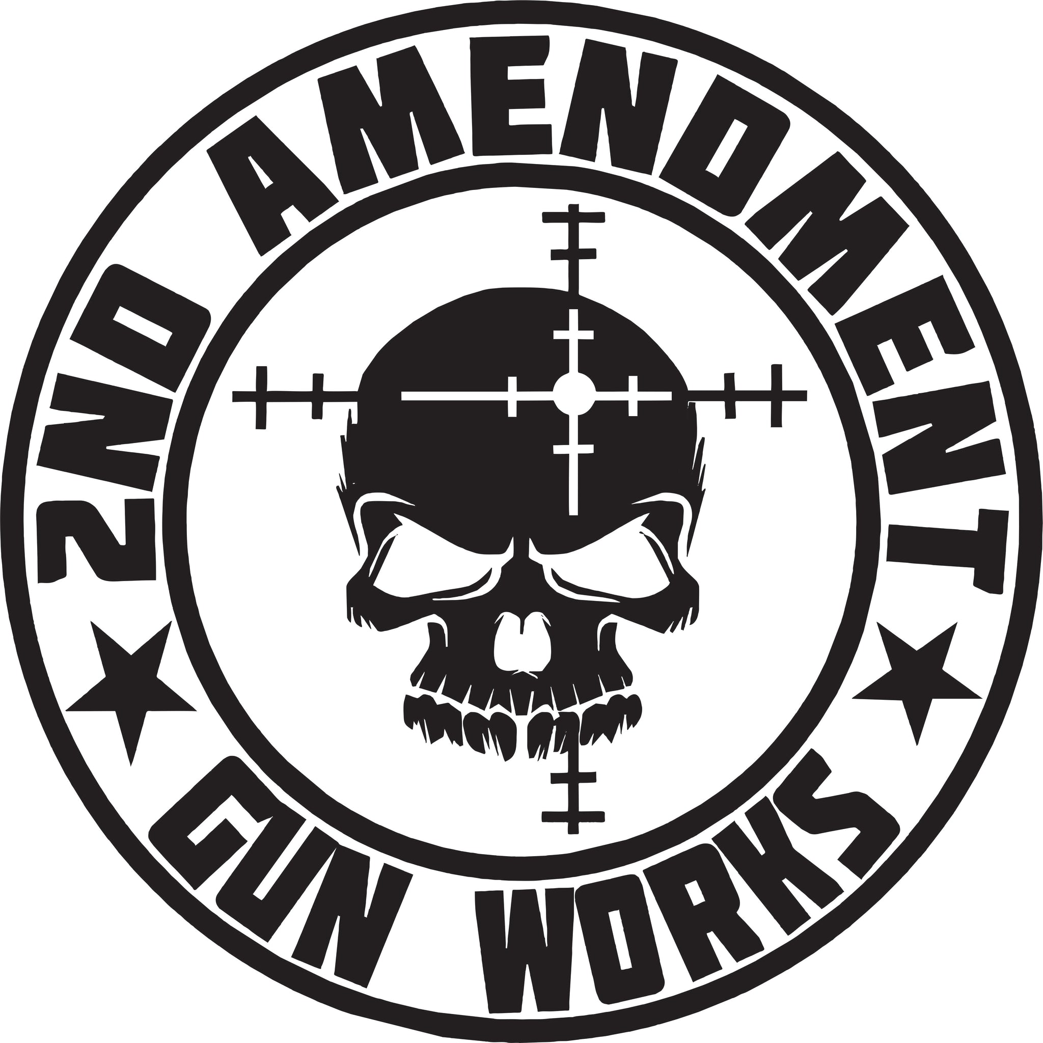 "2nd Amendment Gun Works Circle 6"" Vinyl Decals - 2nd Amendment Gun Works"